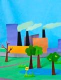 Ilustração de papel da poluição Imagens de Stock Royalty Free