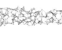 Ilustração de partículas cybernetic pretas ilustração royalty free