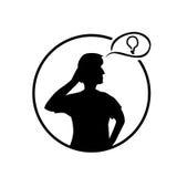 Ilustração de pensamento da pessoa Fotografia de Stock