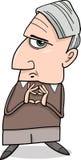 Ilustração de pensamento dos desenhos animados do homem Foto de Stock Royalty Free