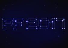 Ilustração de PF azul 2017 no estilo da constelação Imagens de Stock Royalty Free