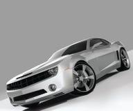 Ilustração de prata do carro do vetor Fotografia de Stock Royalty Free