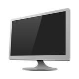 Ilustração de prata do vetor do modelo do monitor Imagem de Stock Royalty Free