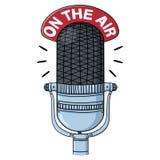 Ilustração de rádio do microfone Fotografia de Stock
