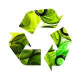 Ilustração de reciclar o símbolo das garrafas de vidro imagens de stock royalty free