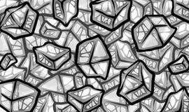 Ilustração de refrescar cubos de gelo cinzentos frescos Imagens de Stock