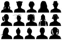 Ilustração de retratos das mulheres Imagens de Stock Royalty Free