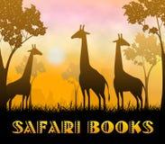 Ilustração de Safari Books Showing Wildlife Reserve 3d ilustração royalty free