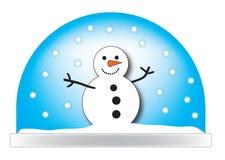 Ilustração de Snowglobe Fotos de Stock