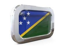 Ilustração de Solomon Button Flag 3D Imagens de Stock Royalty Free