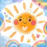 Ilustração de Sun Imagens de Stock Royalty Free