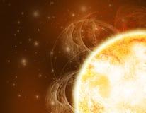 Ilustração de Sun no espaço profundo Fotografia de Stock