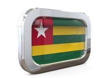 Ilustração de Togo Button Flag 3D ilustração stock