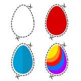 A ilustração de um éster colorido cortado eggs a forma do símbolo com s ilustração do vetor