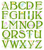 Alfabeto da flor Foto de Stock