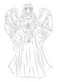 Ilustração de um anjo em um estilo humilde do esboço Pode ser uso Imagens de Stock Royalty Free