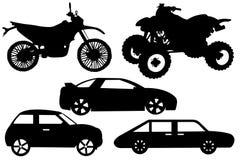 Ilustração de um automóvel diferente Fotografia de Stock Royalty Free