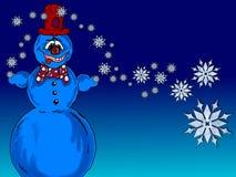 Ilustração de um boneco de neve Fotografia de Stock