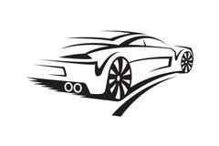 Ilustração de um carro Fotografia de Stock Royalty Free