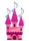 Ilustração de um castelo colorido rosa Fotografia de Stock Royalty Free