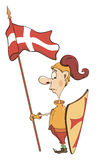 Ilustração de um cavaleiro dos desenhos animados Foto de Stock