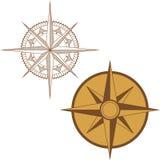 Ilustração de um compasso do mapa no fundo branco Fotos de Stock