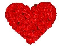 A ilustração de um coração deu forma por rosas Ilustração do Vetor