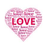 A ilustração de um coração do amor Fotografia de Stock Royalty Free