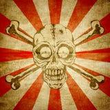Ilustração de um crânio com dois ossos ilustração royalty free
