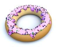 A ilustração de um 3D rende criado em consequência de uma opinião colorida dos anéis de espuma dos confeitos dos lados diferentes ilustração stock