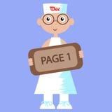 Ilustração de um doutor (homem) Imagens de Stock