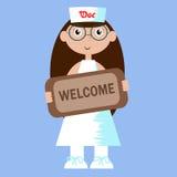 Ilustração de um doutor (mulher) Imagem de Stock Royalty Free
