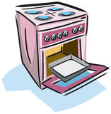 Ilustração de um fogão Fotografia de Stock