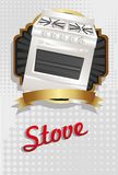 Ilustração de um fogão Imagens de Stock Royalty Free