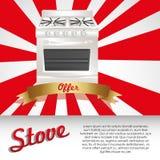 Ilustração de um fogão Fotos de Stock Royalty Free