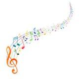 Musicnotes colorido Imagens de Stock