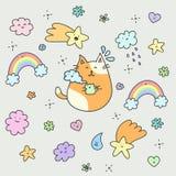 Ilustração de um gato Fotos de Stock Royalty Free