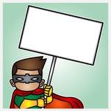 Ilustração de um herói demonstrant Foto de Stock Royalty Free