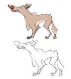 Ilustração de um lobo Personagem de banda desenhada ilustração royalty free