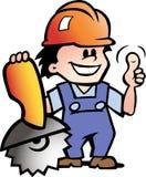 ilustração de um mecânico ou de um trabalhador manual feliz Fotografia de Stock