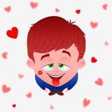 Amor do menino Imagens de Stock