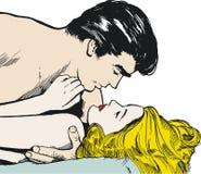 Ilustração de um par de amantes Imagem de Stock Royalty Free