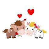 Ilustração de um par de cavalo Imagem de Stock Royalty Free