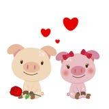 Ilustração de um par de porco Imagem de Stock