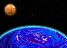 Ilustração de um planetst estrangeiro Foto de Stock Royalty Free