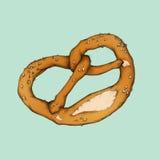 Ilustração de um pretzel Imagem de Stock