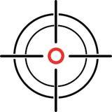 Ilustração de um retículo do crosshair em um fundo branco Fotografia de Stock