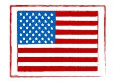 Ilustração de um selo da bandeira americana ilustração do vetor
