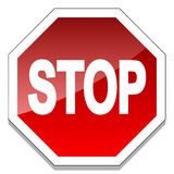 Pare o sinal Foto de Stock Royalty Free