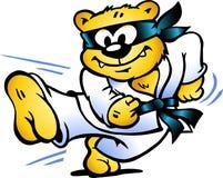 A ilustração de um tigre pratica o Auto-Defens Foto de Stock